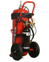 Wheeled_Extinguisher, Compressed Air Foam Systems (CAFS)